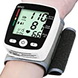 Wrist Blood Pressure Monitor Cuff Automatic FDA Approved BP Monitor Irregular Heart Beat Detection with Large Display Screen Support Charging Supply f