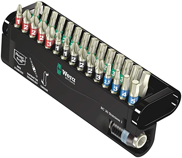 Wera BC Stainless 30 Bit-Check Set, 30-Pieces