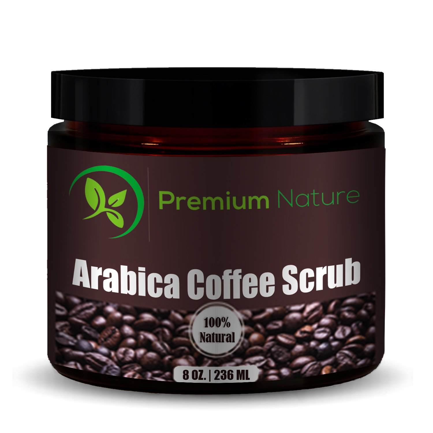Premium Nature Natural Arabica Coffee Scrub, 8 oz
