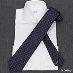 Satin Pin Spot Tie: Navy