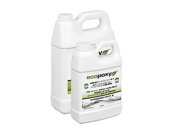 Ecopoxy Liquid Plastic 1.5L - 2:1 Ratio Sold by OM Creation Inc