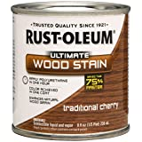 Rust-Oleum 260365 Ultimate Wood Stain, Half Pint, Traditional Cherry (Color: Traditional Cherry, Tamaño: Half Pint)
