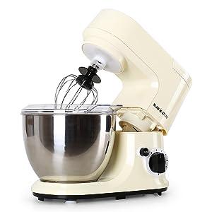 Klarstein Carina Morena Küchenmaschine Knetmaschine inkl. Zubehör (800W, 4L EdelstahlSchüssel, 6 Geschwindigkeiten) beige Kundenbewertungen