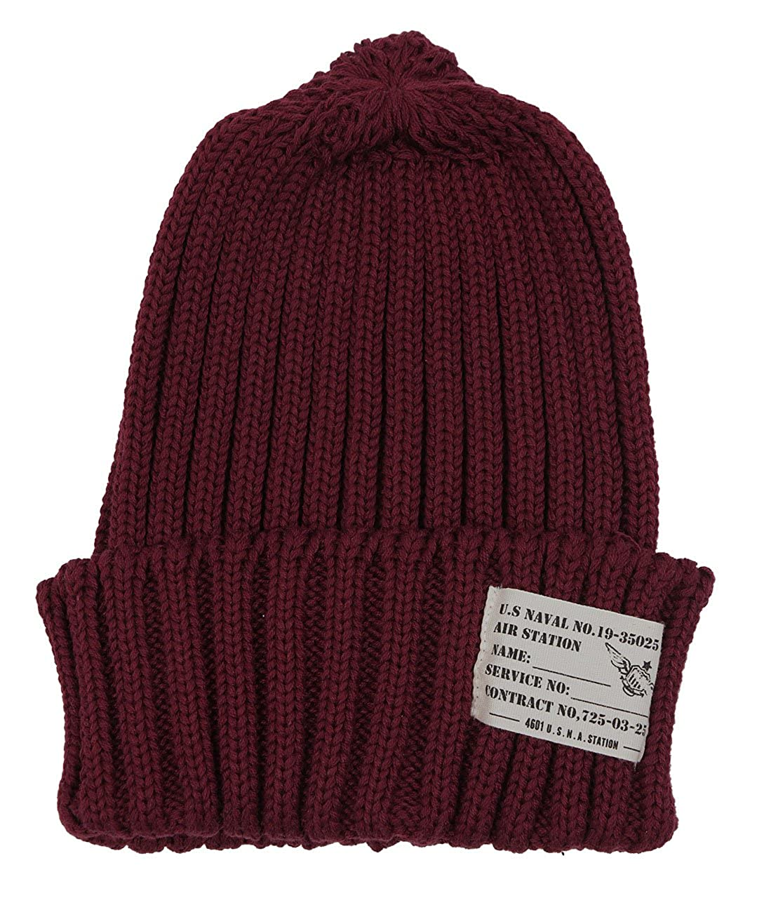 Amazon.co.jp: ラベル付きリブ編みニット帽 ブラック F: 服&ファッション小物通販