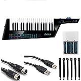 Alesis Vortex Wireless 2 USB/MIDI Keytar Controller + 4 AA Batteries & Charger + Hosa MIDI & USB Cables + Strapeez
