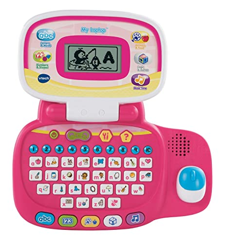 VTech – My Laptop – Mon Premier Ordinateur Version Anglaise – Rose (Import UK)