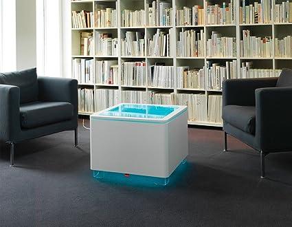 Mesa de centro ORA de colour: de colour blanco y acabado mate, características: LED-iluminación