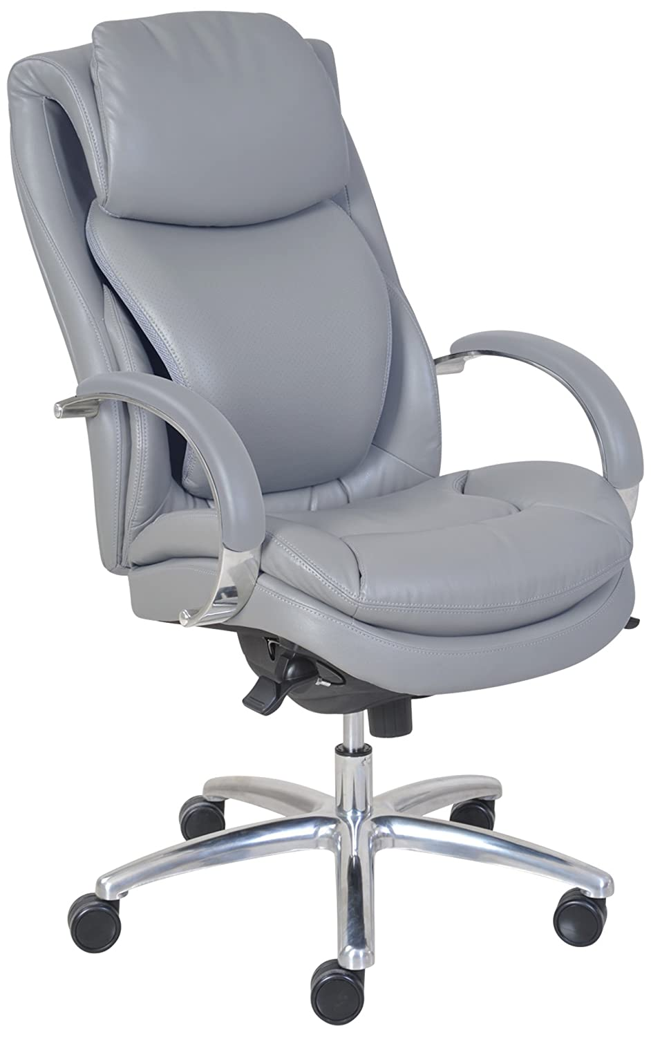 Best office chair 2016 - Serta 45451 Wellness By Design Air Commercial Series 100 Executive Puresoft Faux Leather Chair
