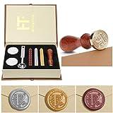 Wax Seal Stamp Kit,Mingting Vintage Wax Stamp Seal Kit Initial Letters Alphabet (P) (Color: P)