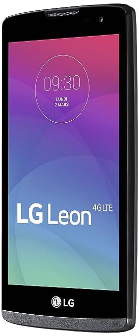 LG Leon 4G Smartphone débloqué 4G (8 Go - Ecran : 4,5 pouces - Simple SIM - Android 5.0 Lollipop) Blanc