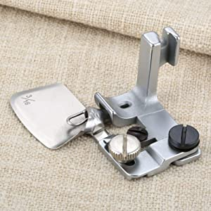 Mgoodoo 1pc Hemmer Presser Foot Steel for Industrial Single Needle Sewing Machines 3/16=0.48cm (Color: Silver, Tamaño: 3/16=0.48cm)