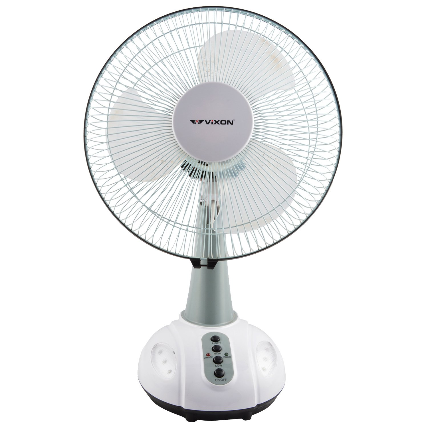 Vixon 12 Inch Rechargeable AC/DC Table Fan available at Amazon for Rs.2800