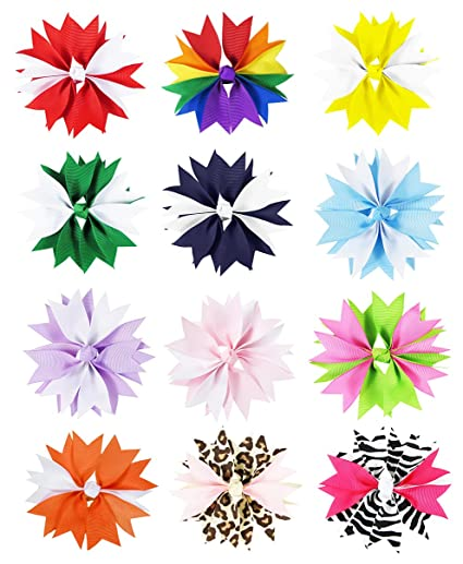 spike hair bow clips