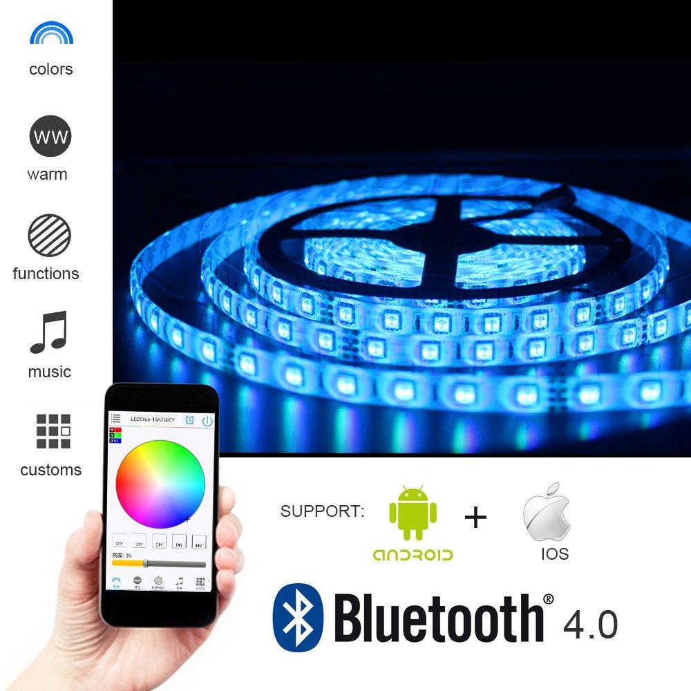 Solarphy 328ft 10m rgb led strip light bluetooth smartphone app solarphy 328ft 10m rgb led strip light bluetooth smartphone app controlled 5050 led light strip aloadofball Choice Image