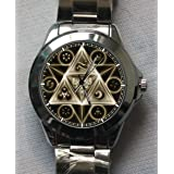 The Legend of Zelda Symbol Triforce Logo Custom Metal Sport Watch