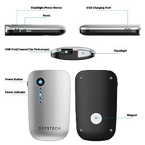 Wireless Ear Otoscope, Depstech Detached Digital Ear Scope Ear