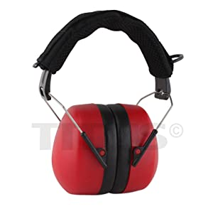 Titus High Decibel Safety Earmuffs (Standard, Tactical Band - Red) (Color: Tactical Band - Red, Tamaño: Standard)