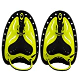 Global-store Professional Swim Training Paddles Hand Paddles Power Paddles Swimming Training Aid Large Flat Paddles for Men Women Children (Yellow, L)