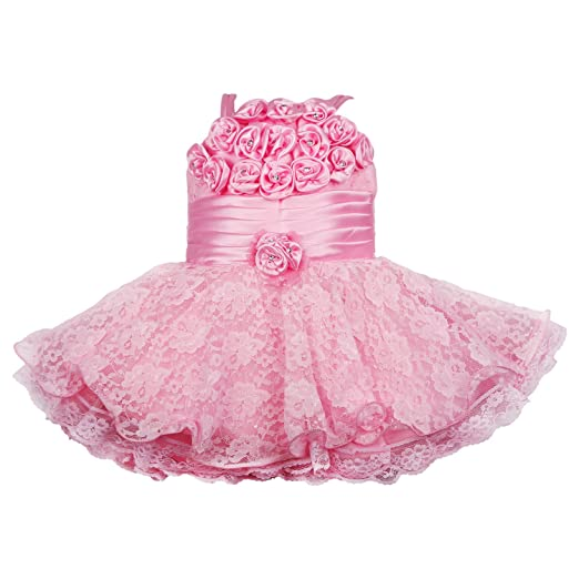Wish Karo Girls' Party Wear Frock Dress DN 2104 at amazon