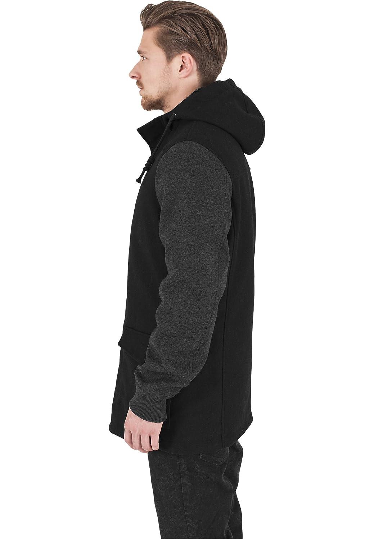 URBAN CLASSICS Lange Jacke mit Kapuze und kontrastigen Aermeln TB1161 Jacket kaufen