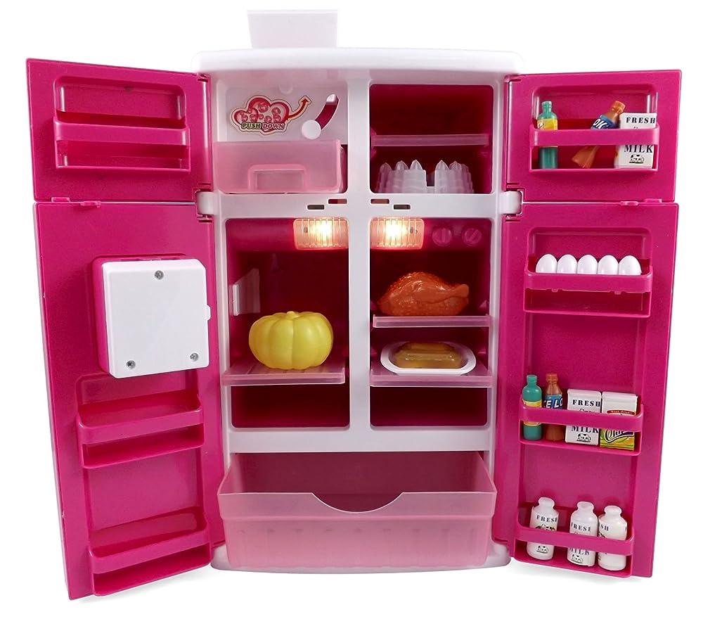 Dream kitchen refrigerator pink toy fridge playset for for Kitchen set ebay