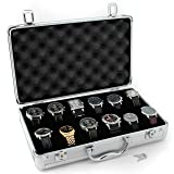 Tech Swiss Watch Storage case (Model: TSBOXAL12) (Color: Silver)