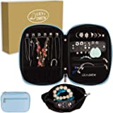 Lily & Drew Travel Jewelry Storage Carrying Case Jewelry Organizer with Removable Pouch, in Gift Box (V1B Light Blue) (Color: V1b Light Blue, Tamaño: Jewelry Only)