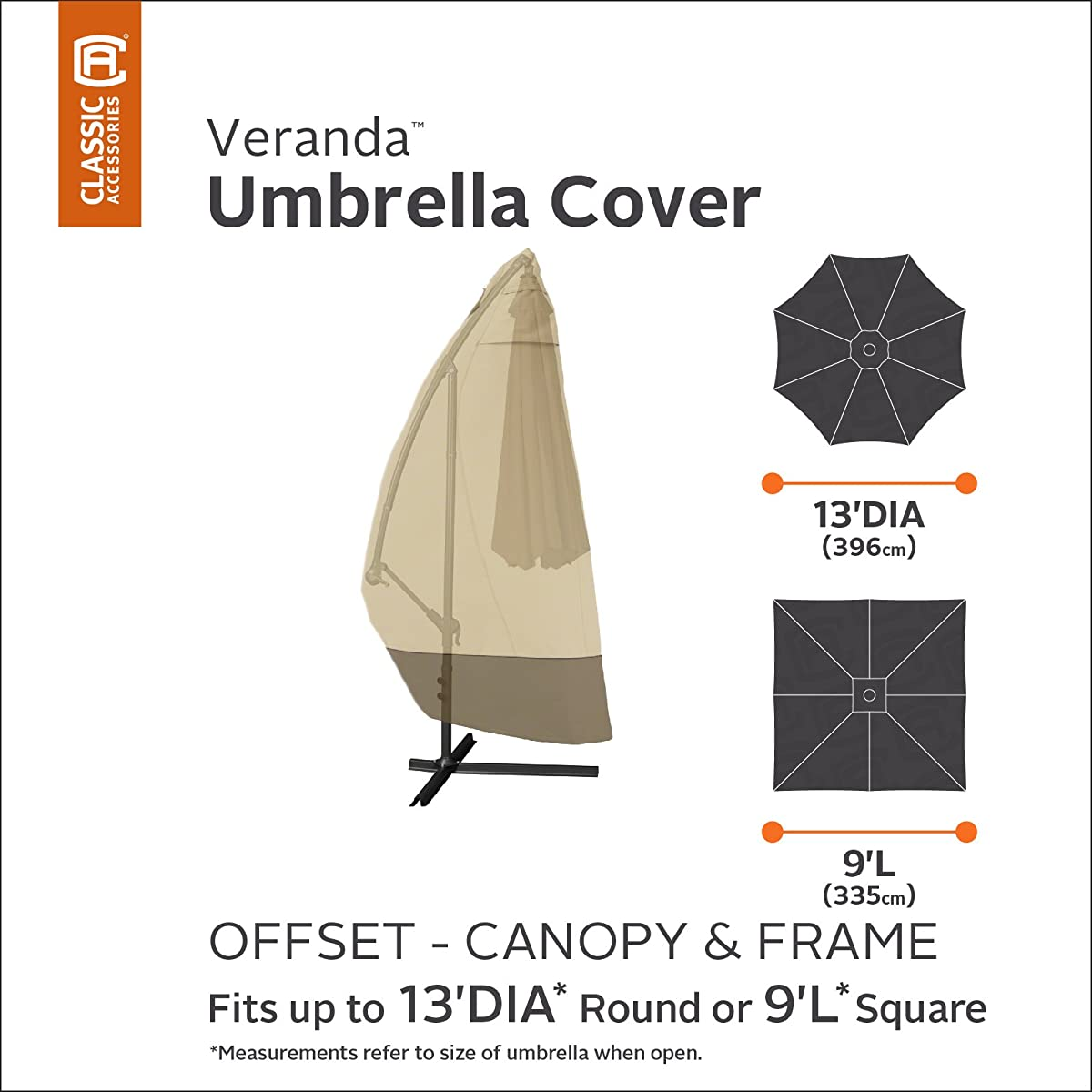 Classic Accessories 73152 Veranda Offset Umbrella & Frame Cover