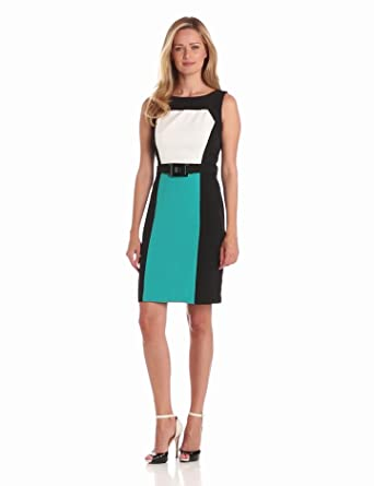 Sandra Darren Women's Sleeveless Colorblock Dress, Black