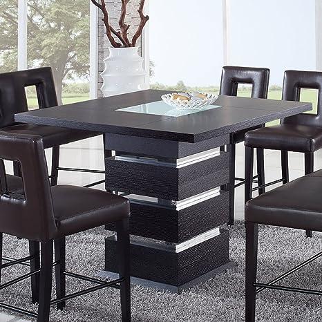Global Furniture Dining Room Set, Frosted/Wenge