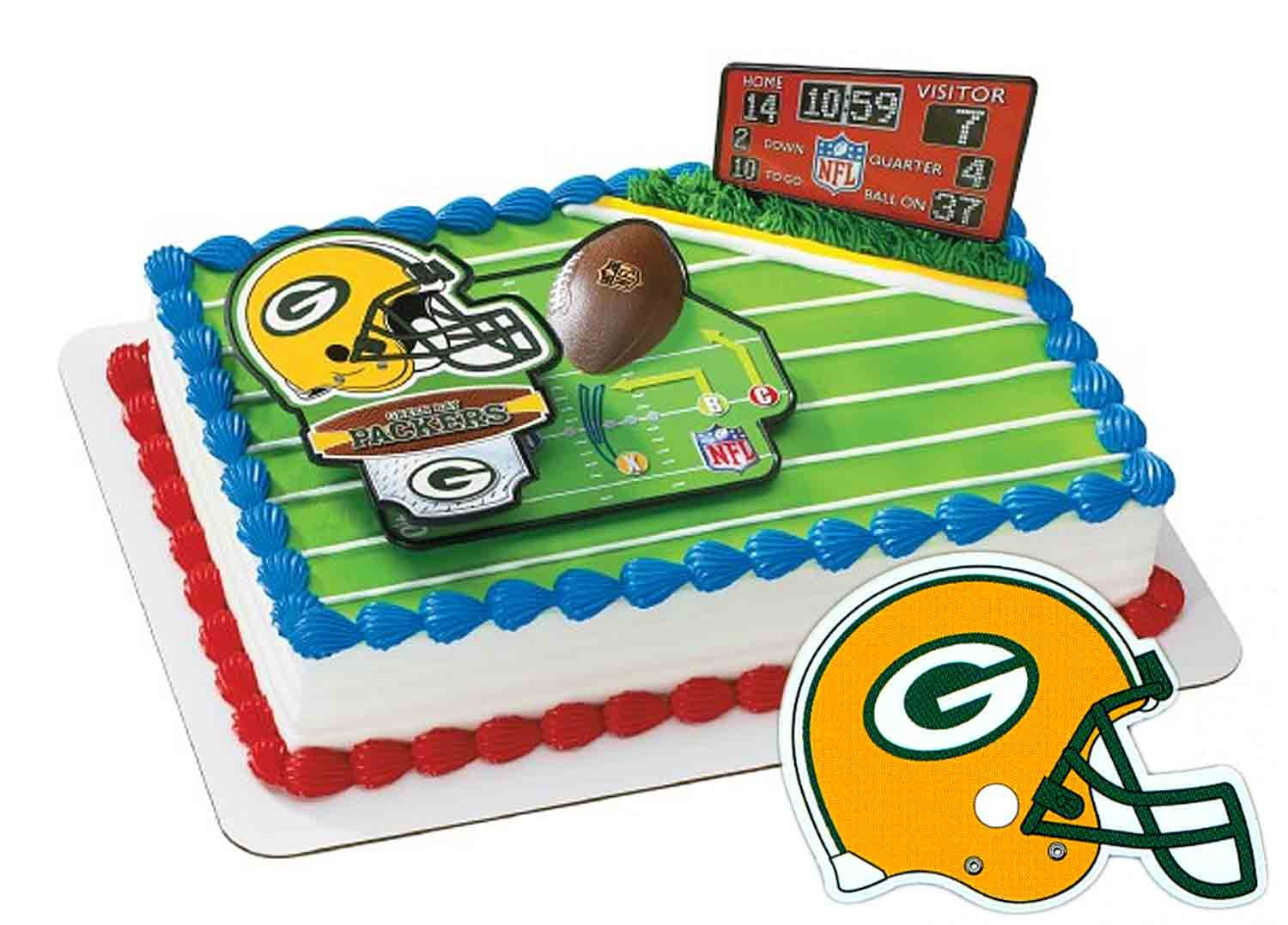 Green Bay Packers Football Cake