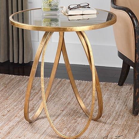 SFBZ Pequeña tabla lateral de hierro Moderno Simple Creative Display Stand Sofá Side pequeña mesa de centro Balcón pequeña mesa redonda mesas auxiliares