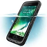 iPhone 8 Case, i-Blason [Aegis] Waterproof Full-Body Rugged Case with Built-in Screen Protector for Apple iPhone 7 2016 / iPhone 8 2017 Release (Black) (Color: Black)