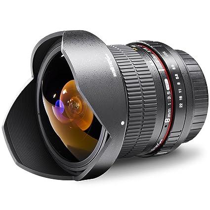 Walimex pro 8 mm 1:3.5 Fish-Eye II Objectif Noir