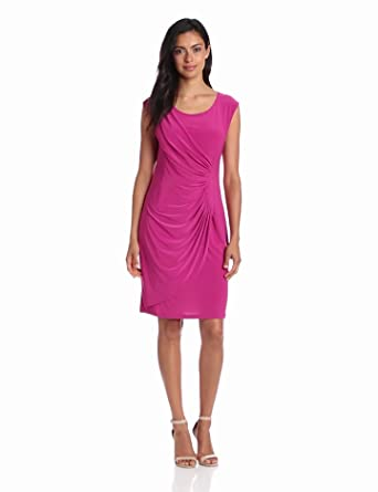 Tiana B Women's Fabulous And Flattering Dress, Fuchsia 4