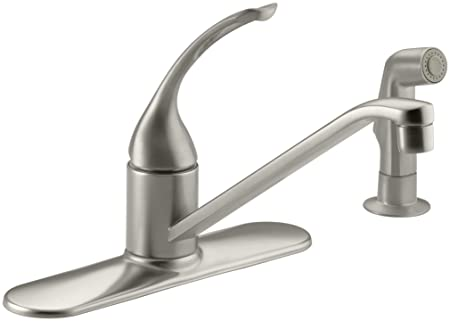 KOHLER K-15172-FL-BN Coralais Single Control Kitchen Sink Faucet, Vibrant Brushed Nickel