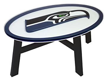 Seattle Seahawks Coffee Table With Glass Cover