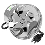VIVOSUN 8 inch Inline Duct Booster Fan 420 CFM, Low Noise & Extra Long 5.5' Grounded Power Cord (Color: Duct Fan, Tamaño: 8 Inch)