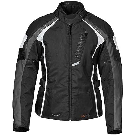 Germot mESSINA 2 veste textile pour femme noir/blanc/anthracite)