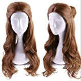 Ani·Lnc Long Wave Brown Movie Costumes Cosplay Wigs for Women Wigs