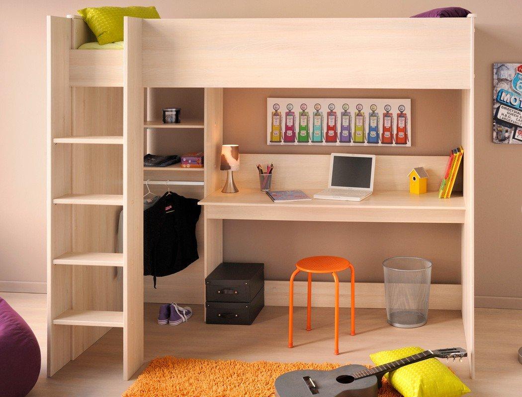 Hochbett Chiron 3 Akazie Nb 207x180x111 cm Liegefläche 90×200 Schreibtisch Kinderbett Bett Kinderzimmer Jugendzimmer günstig kaufen