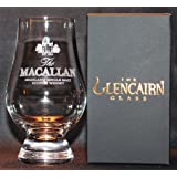 MACALLAN GLENCAIRN MALT SCOTCH WHISKY TASTING GLASS WITH BLACK AND GOLD PRESENTATION BOX