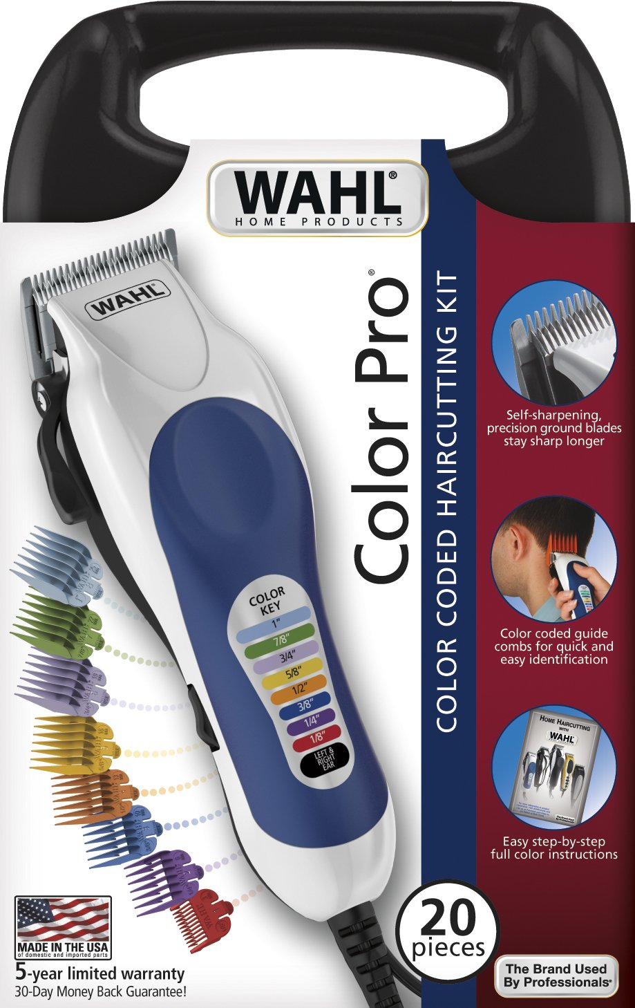 What is the best barber clipper hair and beauty 1 wahl 79300 400 color pro 20 piece complete haircutting kit winobraniefo Image collections
