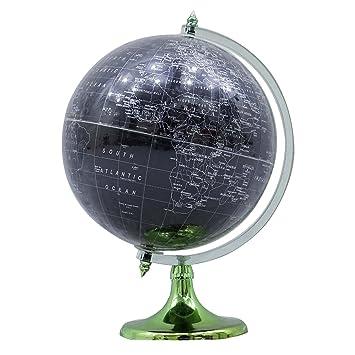 Gran globo terr queo mundo girando oc ano negro decoraci n de mesa - Globo terraqueo amazon ...
