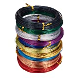 PandaHall Elite 10 Rolls Colored Aluminum Craft Wire 20 Guage Flexible Metal Artistic Floral Jewelry Beading Wire 10 Colors for DIY Jewelry Craft Making Each Roll 65 Feet (Color: 10 Colors- 65 Feet 2, Tamaño: 20 Guage (0.8mm))