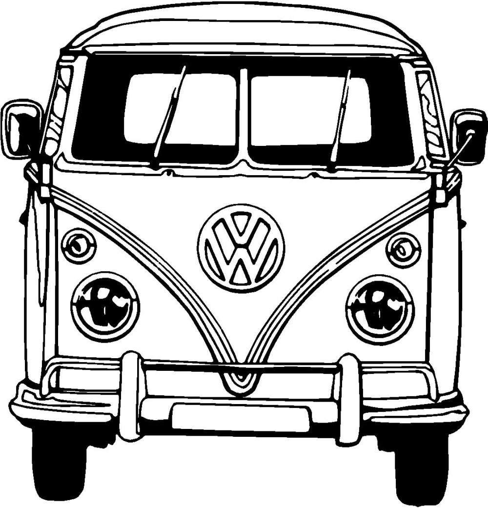 Colouring Picture Van : Free coloring pages of volkswagen van
