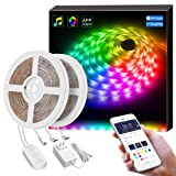 Smart LED Strip Lights, MINGER Dream Color Changing Light Strip Music Sync with Brighter 5050 LEDs and Strong Adhesive Tape, Works with Controller and Phone App Waterproof for Indoor Outdoor, 32.8ft (Color: Dreamcolor, Tamaño: 32.8FT)