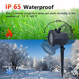 Harmonic Christmas Projector Lights Outdoor, Christmas Lights Decorations Outdoor, IP65 Waterproof LED Projection Decorative Light for Indoor Xmas Party, Garden, Yard, Holiday (12 Slides) (Color: Multicolor)