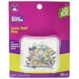 Dritz Sewing 101 S101 Color Ball Pins 80 ct Sewing 101 Color Ball Pins, Size 20-80 Ct