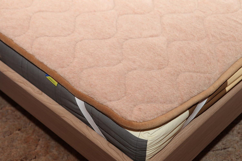 """Unterbett """"Lama"""", Matratzenauflage, Bettauflage, Schonbezug 100% Wolle (200×200) jetzt bestellen"""